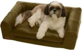 Mini Love Seat Leather Dog Bed