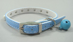 PU Leather pearl collar blue